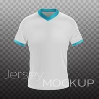 Maquete de camiseta branca em branco 3d realista vetor