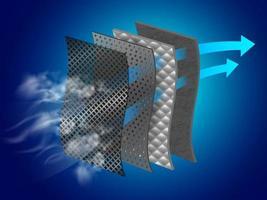 Infográfico de camada de filtro de poeira vetor
