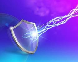 Conceito de proteção de escudo de vidro vetor
