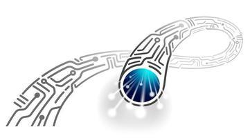 Ilustração abstrata de alta velocidade do cabo digital