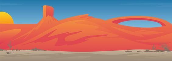 Cena de paisagem do sudoeste do vale do deserto dos EUA vetor