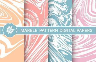 Conjunto de padrões de mármore roxos para design vetor