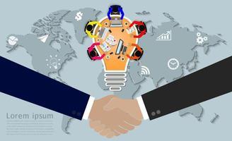 Conceito de reunião de negócios de aperto de mão vetor