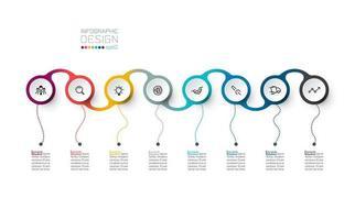 Círculo rótulo infográfico vetor arte.
