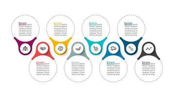 Infográficos do anel bar gráficos vetoriais. vetor
