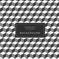 Padrão de bloco preto e branco geométrico 3d moderno vetor