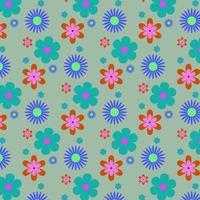 padrão de forma floral brilhante