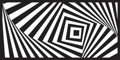 Preto e branco geométrico arte óptica padrão listrado vetor