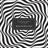 Ilusão de ótica padrão geométrico de linha preto e branco vetor