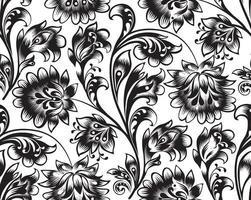 Teste padrão floral sem emenda vetor