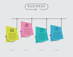 Modelo de design de linha fina de infográfico