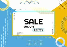 Cartaz de venda estilo moderno de memphis