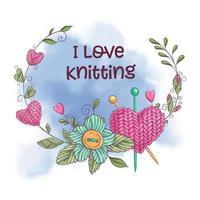 Eu amo tricô design