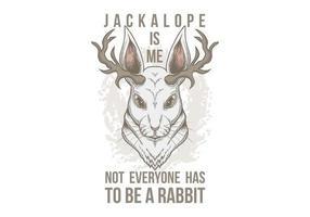 Ilustração de Jackalope Head vetor