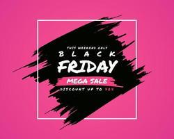 Sexta-feira negra poster design rosa moderno vetor