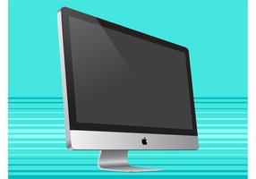 Vista lateral do iMac vetor