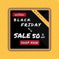 Cartaz de venda sexta-feira negra