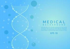 Fundo de design médico dna vetor