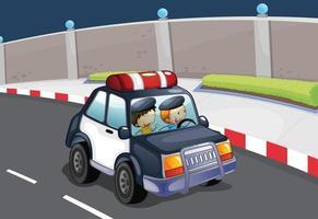 Um carro de polícia vetor