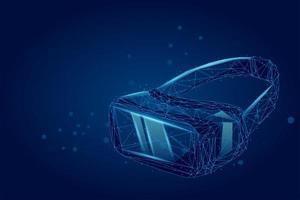 VR headset óculos de realidade virtual de projeção holográfica vetor