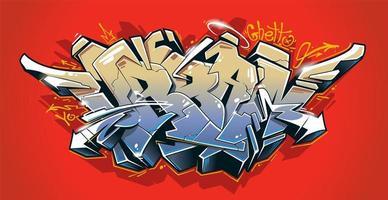Arte vetorial de grafite urbano