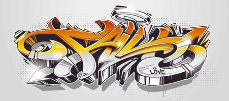 Vetor de estilo selvagem de graffiti de outono