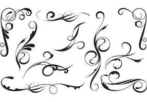 Pacote elegante de redemoinhos de vetores