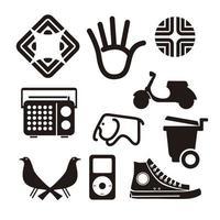 conjunto de vetores de ícone