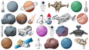 Conjunto de elemento de espaço