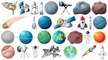 Conjunto de elemento de espaço vetor