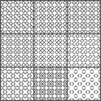 Conjunto de cruzes sem costura padrão preto