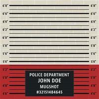 Modelo de mugshot da polícia vetor