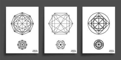 Conjunto de formas geométricas mínimas vetor