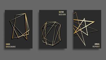 Conjunto de design de modelo de capa abstrata