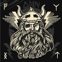O deus nórdico Odin vetor