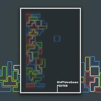Cartaz antigo abstrato de videogame
