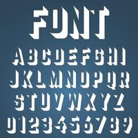 Fonte incompleta do alfabeto vetor