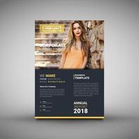 Modelo de folheto moderno e relatório anual