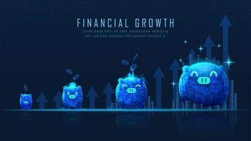 Arte conceitual do crescimento financeiro