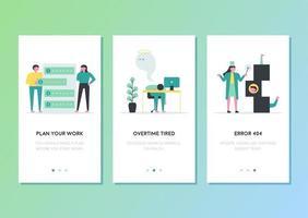 Trabalho em negócios relacionados com design de modelo de página da web de celulares.
