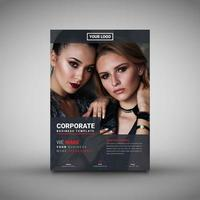 Modelo de capa de revista corporativa vetor