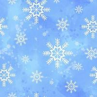 Padrão sem emenda de inverno com flocos de neve
