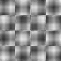 Padrão de xadrez sem costura houndstooth preto e branco