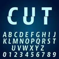 Modelo de fonte do alfabeto