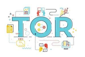 TOR termo de referência palavra letras ilustração