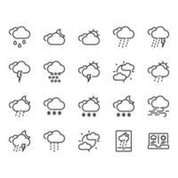 Conjunto de ícones do tempo vetor