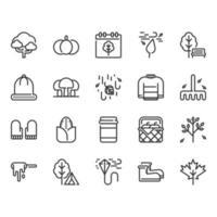 Conjunto de ícones de outono vetor