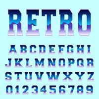 Modelo de fonte de alfabeto retrô