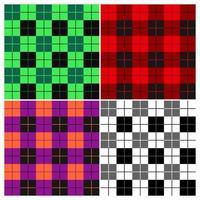Conjunto de xadrez padrão de lenhador vetor