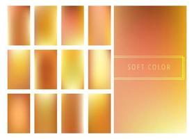 Conjunto de fundo suave gradientes dourados